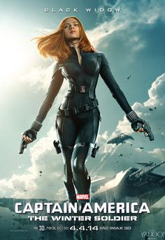 Hot new poster from Captain America: The Winter Soldier featuring Scarlett Johansson's Black Widow.