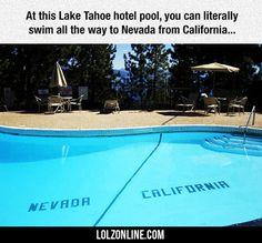 At This Lake Tahoe Hotel Pool... #lol #haha #funny