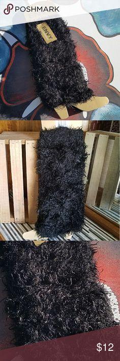 Envy Black Shaggy Leg Warmers 70% Acrylic, 20% Polyester, 10% Spandex   NWT Envy Soft Shaggy Black Leg Warmers Envy Accessories Hosiery & Socks