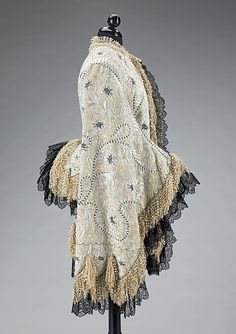 Mantle Date: ca. 1885 Culture: probably French Medium: silk, metal Accession Number: 2009.300.1352