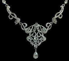 Art Deco Wedding Necklace, Victorian Bridal Jewelry - CARMEN | yjdesign - Wedding on ArtFire