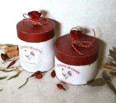 Купить Нормандский петух БАНКа - бордовый, короб для хранения, банка для сыпучих, банка для хранения