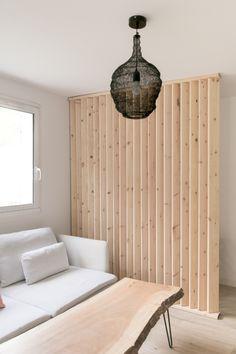 Living Room Partition Design, Room Partition Designs, Diy Room Divider, Tiny House Cabin, Home Office Design, Living Room Designs, Home Furniture, Bedroom Decor, Interior Design