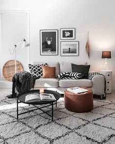 """Monochrome   Scandi   Cozy on Instagram: """"Hello! I made some changes around here and getting back to cozier again😀 I was planning to finish the tv gallery wall but it's too lovely…"""""""