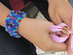 Multi-coloured Multi-purpose Necklace Bracelet Armband by Narmadaa