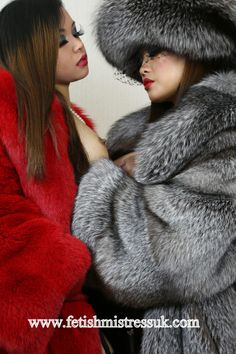 Oh... You Look So Sexy in that Soft Red Fox Fur Coat... www.fetishmistressuk.com