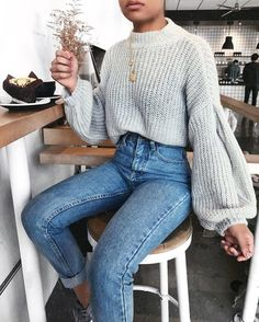 2018 Fashion Trend: Huge Sleeves | If there's one thing #PFW told us this year, it's that the 80's are back. The bigger & puffier the sleeves the better. #FashionTrendsJeans