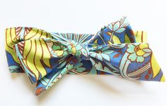 Fabric Bow Headwrap - Periwinkle Love - Infant Headband - Fabric Headband - Baby Headband - Topknot Headband - Toddler Headband