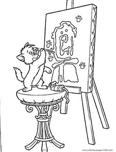 aristocats, disney coloring pages, color plate, coloring sheet,printable coloring picture