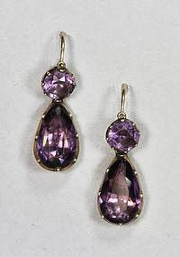 1790s Amethyst Earrings