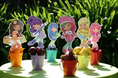 strawberry shortcake centerpieces | Strawberry Shortcake and Friends Centerpiece by OnceUponAnInvite