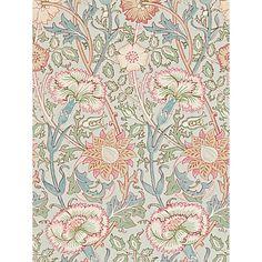 Buy Morris & Co Pink and Rose Wallpaper Online at johnlewis.com