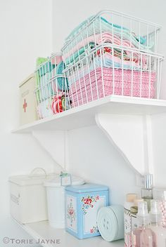 My Cloakroom/Laundry room shelves by Torie Jayne