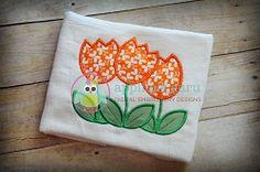 Tulip Trio Applique - 4 Sizes! | What's New | Machine Embroidery Designs | SWAKembroidery.com Applique Guru