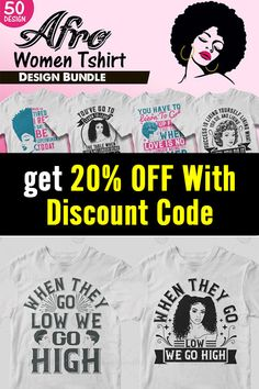 This bundle contains 50 premium designs in vector format that are perfect for t-shirts, hoodies, mugs, and flyers too. With completely editable and pixel perfect vector files you can adapt these t-shirt designs to any size. #tshirtdesign #blm #blacklivesmatter #editabledesigns #tshirtbundle #ads T Shirt Design Template, 50 And Fabulous, Vector Format, Flyers, Design Bundles, Cool T Shirts, Funny Tshirts, Afro, Shirt Designs