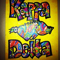 Kappa Delta and Razorback Canvas. $50 NOTE: This has already been SOLD. But I can re-create any of my hand-painted items for you, custom!