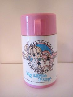 Vintage Aladdin My Little Pony Pink Thermos