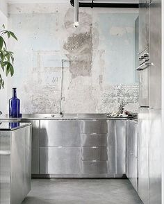 Not sure where this kitchen is or who it's by, but it's a nice break from brass and marble.