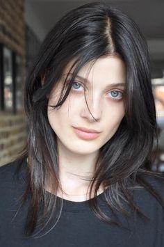Viva London S/S 14 Polaroids/Digitals (Polaroids/Digitals) Beautiful Person, Beautiful Eyes, Hair Color And Cut, Celebrity Beauty, Female Portrait, Woman Face, Dark Hair, Pretty Face, Hair Inspo