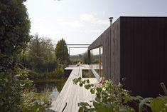 Le cabinet d'architecture Autrichien Hpsa, signe la réalisation de cette maison en bois de 50 m2.