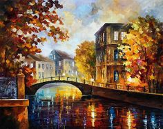 0987 The River Of Memories - Palette Knife Oil Painting On Canvas By Leonid Afremov Print by Leonid Afremov Canvas Home, Canvas Wall Art, Canvas Prints, Oil Painting Texture, Oil Painting On Canvas, Painting Art, Painting Clouds, Painting Tips, Figure Painting