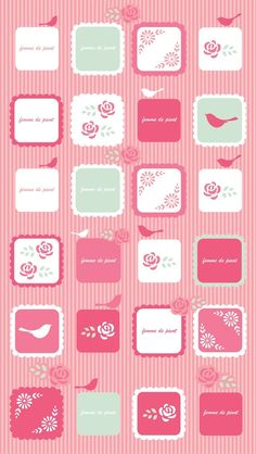 ♥ IPHONE 5 | Pink Icons Wallpaper.