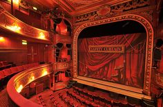 Theatre Royal Stratford East. The red interior really gives it a royal feeling. http://www.stratfordeast.com/1/Home