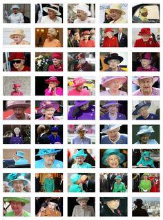 Chromatic Queen  from http://www.ilpost.it/2012/06/08/colori-regina-elisabetta-pantone/