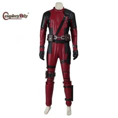 Cosplaydiy Hot Movie Deadpool Cosplay Costume Suit X-Men Superhero Adult Men Halloween Full Ste Outfit Uniform Custom Made #Affiliate