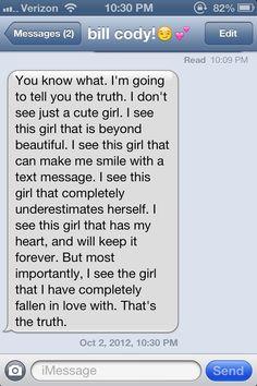 My boyfriends text are Pinterest worthy! So thankful :)