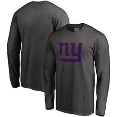 BIG  amp  TALL Men s NFL Pro Line by Fanatics Branded Charcoal New York  Giants Big d3cbca748
