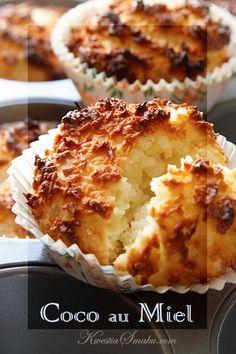 Mini babeczki kokosowe z miodem | Kwestia Smaku