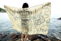 The Marauders Map Hogwarts Harry Potter Scarf  More design please check in shop https://www.etsy.com/shop/TheOhlala  Measurements 150 cm X 100 cm