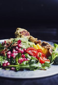 Falafelsallad med krämig quinoaröra - Hur bra som helst - Hanna Göransson