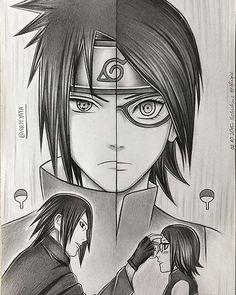 Sasuke and Sarada Uchiha Itachi Uchiha, Naruto E Boruto, Shikamaru, Naruto And Sasuke, Naruhina, Sasunaru, Anime Naruto, Anime Pokemon, Naruto Fan Art