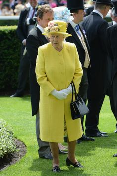 Q Queen Elizabeth II in the Parade Ring as she attends Royal Ascot 2015 at Ascot racecourse on June 19, 2015 in Ascot, England.