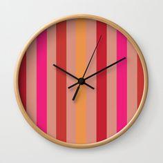 Summer Stripes Wall Clock by Poppytalk.