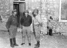 """Alexander, Eisenhower and Patton in Feriana on March 17, 1943. The day that the American attack on Gafsa and El Guettar began."""