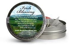 Irish Blessing | Irish Tea | St. Patrick's Day | The Tea Can Company Irish Tea, Tea Favors, Irish Blessing, St Patricks Day, Blessed, Canning, Holiday, Vacations, Holidays
