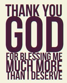 I am truly blessed!