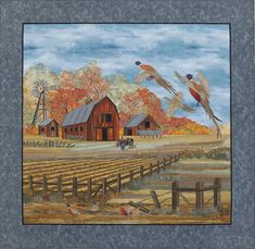 Feathers and Farms by Joanne Baeth.  What amazing quilting.