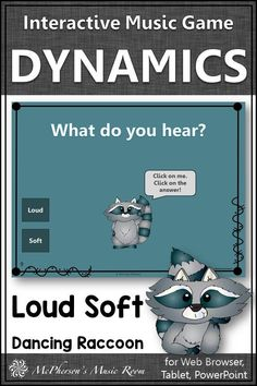 Fun dynamics game! Your elementary music students will fall in LOVE with this interactive music game reviewing music opposites (loud soft)! Perfect for kindergarten music lessons or first grade music centers! and distance learning.