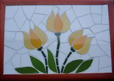 lindas tulipas em mosaico