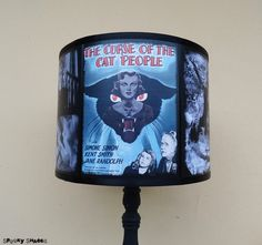 The Curse of the Cat People lamp shade Lampshade - Halloween, lighting, classic horror movies, Spooky Shades, film noir, movie poster,kitsch by SpookyShades on Etsy https://www.etsy.com/listing/250405895/the-curse-of-the-cat-people-lamp-shade