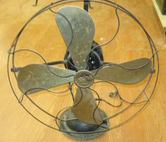 Antique Star Rite 16 inch  Electric Brass Blade Fan