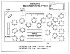 wedding 40x80 white pole tent a