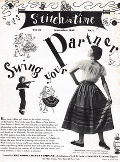Stitch In Time Square Dance Patterns Swing Your Partner 1951 - $20.00 : Vintage Sewing Patterns