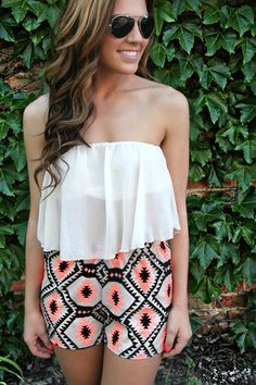 Strapless Sheer Crop Top | http://uoionline.com: Womens Clothing Boutique
