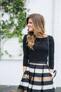 Office Holiday Party Outfit Idea: Midi Skirt