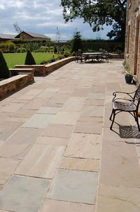 Raj Green CALIBRATED Graded Natural Indian Sandstone Patio Paving Pack / Slabs